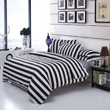 black and white striped duvet. Interesting Striped Black White Stripe Grid Bedding Sets TwinFullQueen Size Bedclothes Single  Double Bed Linen Plaid Printed Duvet Cover Setin From Home  On And Striped P