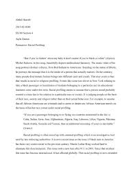 racial profiling essay racial profiling essays criminal justice  persuasive essay on racial profiling