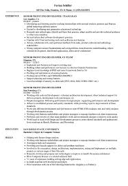 Senior Front End Developer Resume Samples Velvet Jobs