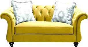 yellow leather sofa and loveseat 3 seat made of velvet mustard for