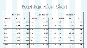 Dailydelicious Yeast Equivalent Chart