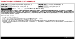 Bodyguard Close Protection Officer Resume & Cover Letter | Cv ...