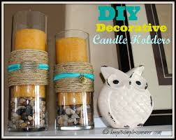 Simple Candle Decoration Diy Decorative Candle Holders Keep It Simple Summer