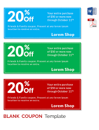 Microsoft Word Coupon Template Fascinating Business Coupon Template Word Vilanovaformulateam