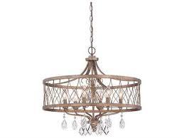 minka lavery west liberty olympus gold 24 wide six light chandelier