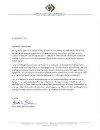 Action Packaging Letter Of Recommendation