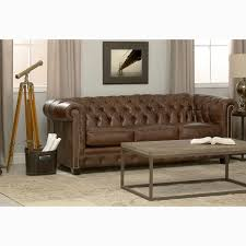 Hancock Tufted Brown Leather Chesterfield Sofa