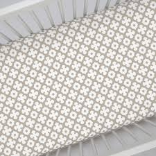 taupe moroccan tile crib sheet