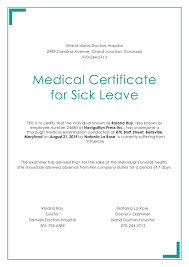 Medical Certificate For Sick Leave Free Medical Certificate for Sick Leave Template in PSD MS Word 1