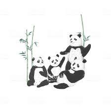パンダのクリップアート白い背景かわいい動物面白いお友達に動物の