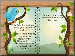 Story Book Powerpoint Template Story Writing Fantasy Template Powerpoint Book Writing