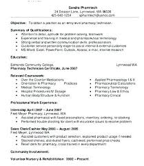 Pharmacy Technician Resume Examples Impressive 48pharmacy Technician Resume Objectives Lettering Site