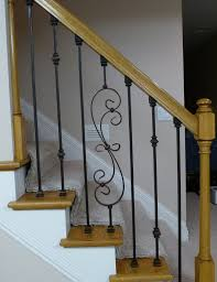 replacing wooden stair baers spindles with wrought iron p1010287 jpg