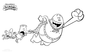 Captain Underpants Coloring Pages Mountainstyleco