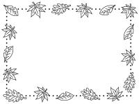 秋のフレーム 無料イラスト かわいいフリー素材集 フレームぽけっと