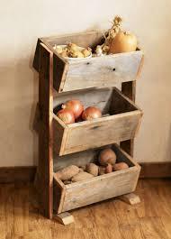potato bin vegetable bin scandinavian barn wood rustic kitchen decor handmade
