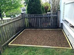outdoor dog potty area diy for patio