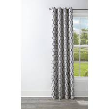 style selections amhurst 84 in admiral polyester grommet blackout thermal lined single curtain panel