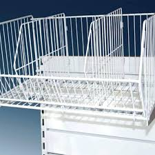 wire shelf dividers retail metal for shelving basket units bed bath and beyond