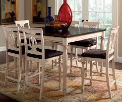 Coaster Camille Counter Height Dining Set Antique White Marlot