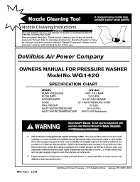 Devillbiss Air Power Company Wg1420 User Manual 14 Pages