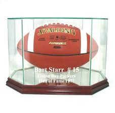 glass football display case green bay packers f s glass football display case new free glass