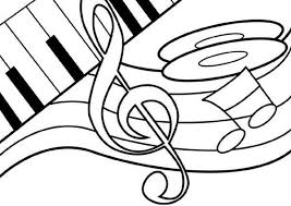 Small Picture Music Notes on Piano Coloring Page Download Print Online