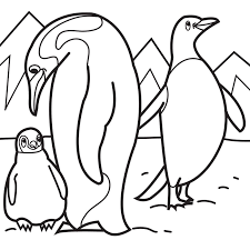 Small Picture penguin family Colouring Pages Wood Burning patterns Pinterest