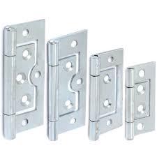 2x Silver Flush Hinges 40/50/60/75mmCabinet Cupboard Door Furniture