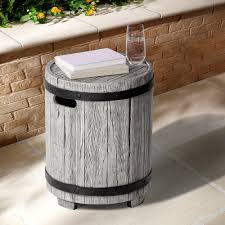 ove decors barrel round stone outdoor side table