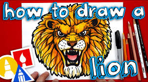 lion face drawing for kids. Fine Face How To Draw A Realistic Lion And Face Drawing For Kids L