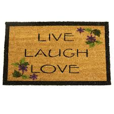 Rubber-Cal Live, Laugh, Love 30 in. x 18 in. Novelty Door Mat-10 ...