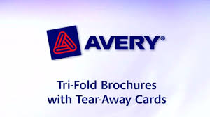 Avery Tri Fold Brochure Templates Avery Tri Fold Brochure With Tear Away Cards 8 5 X 11 Soft Gloss White 50 Brochures