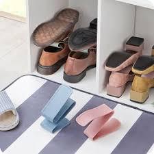 Shoe Rack Creative Plain Double Adjustable Bracket ... - Vova