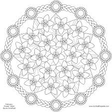Small Picture Spring Flower Mandala coloring Pages Pattern Mandala Free