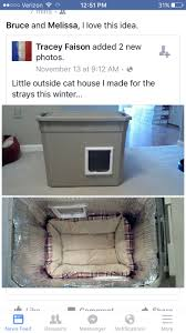 outdoor heated cat house for winter. diy safe house for stray cats in winter outdoor heated cat