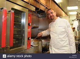 Chef Wade Burch in the kitchen of SouthWest NY, a restaurant in Stock Photo  - Alamy
