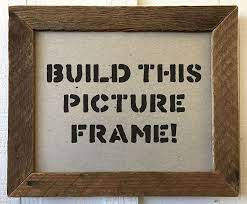 make a picture frame from s wood