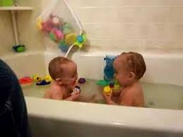 the twins lose it in the tub