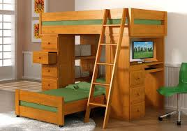 Christmas Kids Loft Bed In Desk Floral Carpet Along Storage Floating Desk  Metal Loft Bed Twin
