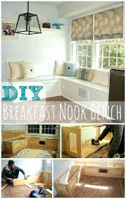 how to build a breakfast nook kitchen seating bench with storage in best plans diy w breakfast nook cushions plans