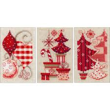 Vervaco Cross Stitch Charts Vervaco Christmas Motifs Greeting Cards Counted Cross Stitch