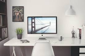 free home office. Free IMac 5k Retina 27-Inch Home Office Mockup F