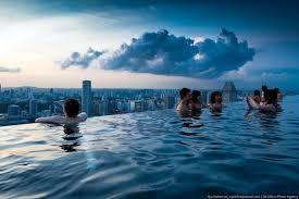 infinity pool singapore edge. Amazing Infinity Pool On Marina Bay Sand Hotel In Singapore - CAT IN WATER Edge
