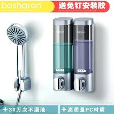 wall mounted foaming soap dispenser free punch hanging hand single double hotel shampoo shower gel bottle wall mounted foaming soap dispenser