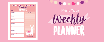 Download And Print Your Free Weekly Planner With This Cute