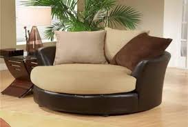 Round Swivel Chair Living Room Sofa Brown Round Swivel Chair Jen Joes Design How To Build Round