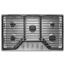 kitchenaid stove top. whirlpool® 36-inch 5 burner gas cooktop with ez-2-lift™ kitchenaid stove top
