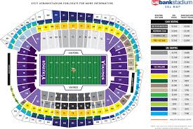 Us Bank Seating Chart Metrodome Map Seating Chart And Tailgating Directions