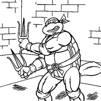 Small Picture Teenage Mutant Ninja Turtles Coloring Pages All Kids Network